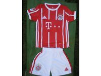 Brand New Bayern Munich Number 11 Football Shirt and Shorts for a 7 to 9 Year Old