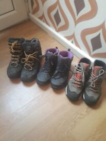 Hiking Boots size 2,4 & 6