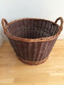 Sturdy wicker basket