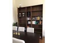 Beautiful large wood bookshelves
