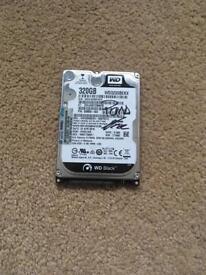 "2.5"" 320GB Western Digital Black Hard Drive"