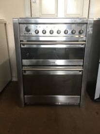 Smeg dual fuel gas cooker 70cm stainless steel double oven 3 months warranty free local delivery!!!!