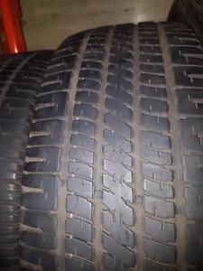 2 pneus d'été, 185/65/14, Goodyear, Regatta, 60% d'usure, 5/32 de mesure.