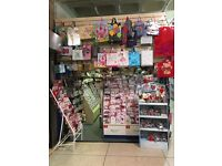 Greeting Card and Gift shop plus £10,000 of stock and all fixtures.