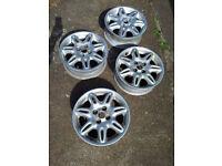 "Set of 4 Alloy Wheels (15"") for sale **** BARGAIN at £40.00 ****"
