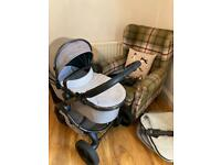 Icandy peach 5 travel system with Maxi cosi rock Isize car seat