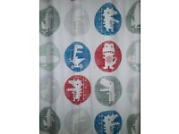 John Lewis Children's Curtains. Glow in the dark blackout pencil pleat curtains. W165xD182cm.