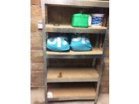 adjustable aluminium shelving with board shelving