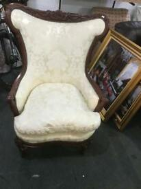Large ornate armchair