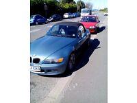 BMW Z3, Atlanta Blue, 1998 S reg, new mot, 1.9