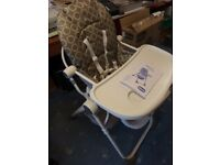 Chicco High chair - folds up - suitable 6 months to 3 years - REDUCED PRICE