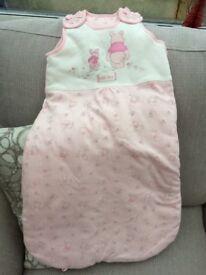 Pink Winnie The Pooh Sleeping Bag 6-12 Months Never Worn