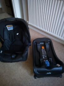 Joie Car seat/baby carrier with isofix base