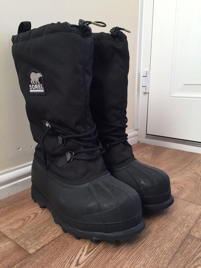 Sorel Glacier Snow Boots Size 10 Mens In Pocklington