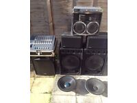 pa equipment..fully working..£180 for all or can sell separately..pls read info