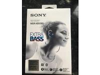 Brand new Sony wireless headphones with extra bass