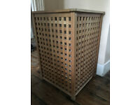 LAUNDRY BASKET - SOLID WOOD