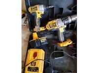 Cordless 18v Dewalt 3 speed hammer drill and impactor