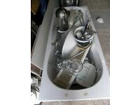 Bathroom Suite towel radiator shower screen bath sink toilet triton shower taps with flex hose Etc