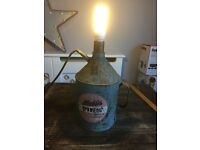 VINTAGE LAMP VERY RUSTIC AND SHABBY CHIC FURNITURE
