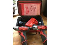 Milwaukee M12 12V Li-Ion drills X2