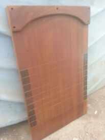 Vintage, mahogany shove ha'penny board.