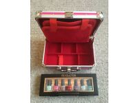 Girls Multi Purpose Makeup Vanity Case with Mirror + 7 Sets of Brand New Nail Varnish