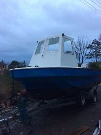 Fibre glass 5.5Mtr Cathedral Hull Fishing/Creel/Dive boat