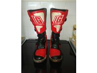 Motorcross boots size 9, Euro 43, Gaerne RX2, The Boot Co, Black and Red, ex con.