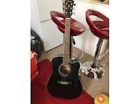 ibanez v72ece Electro Acoustic Guitar (Black)
