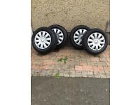 X4 steel wheels with tyres and trims