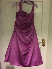 Kelsey Rose Occasion/ Prom Dress BNWT. Primrose Pink halterneck dress with netting. Size 14