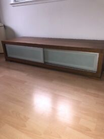 Large wooden Tv unit.
