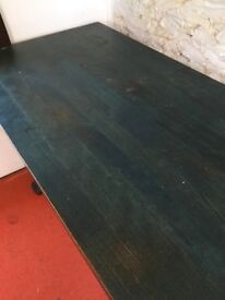 Small attractive blue/green table