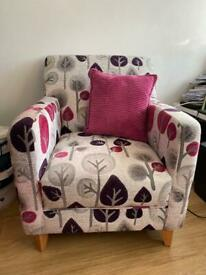 DFS patterned accent armchair