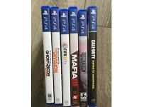 Playstation 4 plus 6 games