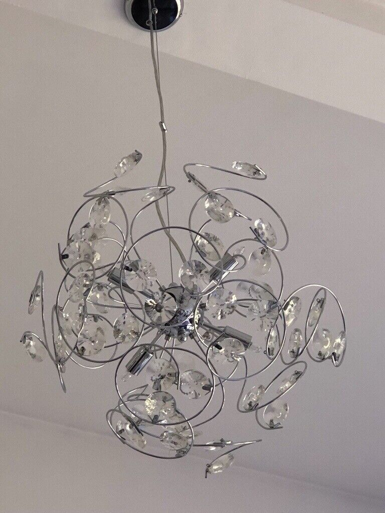 5 x light fittings one large ceiling light and four matching wall lights in broadstone dorset gumtree