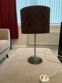 Lamp - Brushed Chrome & Suedette