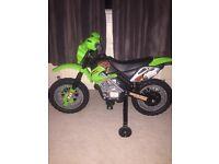 Green battery powered motorbike