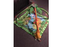 FISHER PRICE RAINFOREST MELODIES AND LIGHTS PLAYMAT GYM