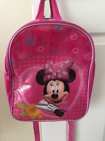 Girls Minnie Mouse back pack