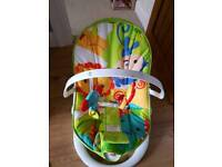 Two baby bouncers,fisher price and bright starts.