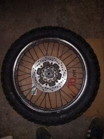 Dtr front / rear wheels dt125 dt125r yamaha