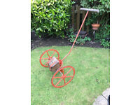 Vintage Hand Pushed Seed Drill, Garden Feature