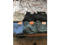 6 pairs men's designer jeans all 34x30 and immaculate ,Levi's diesel and Ralph lauren