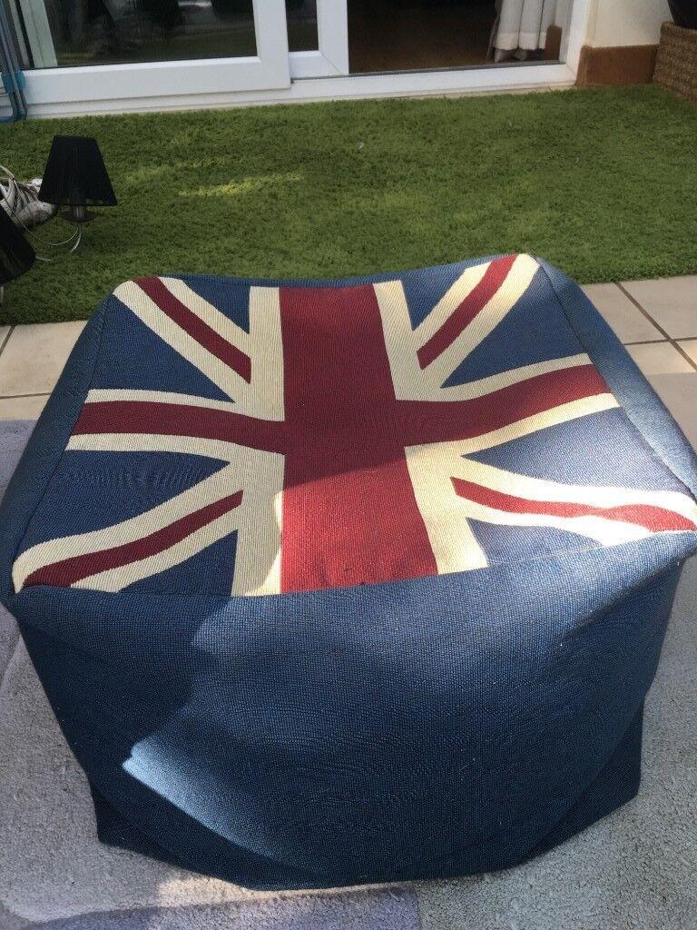 Fine Union Jack Bean Bag Cube Pouffe Stool In Thurston Suffolk Gumtree Evergreenethics Interior Chair Design Evergreenethicsorg