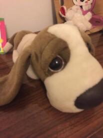 A cute cuddly dog toy