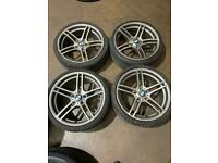 "Set of 19"" genuine Bmw alloy wheels and tyres"