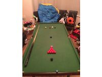 6ft X 3ft snooker/pool table