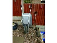 Wheelbarrow builders 65ltr as new used only once